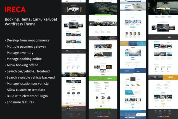 Car, Boat, Bike Booking Rental Theme - Ireca 1