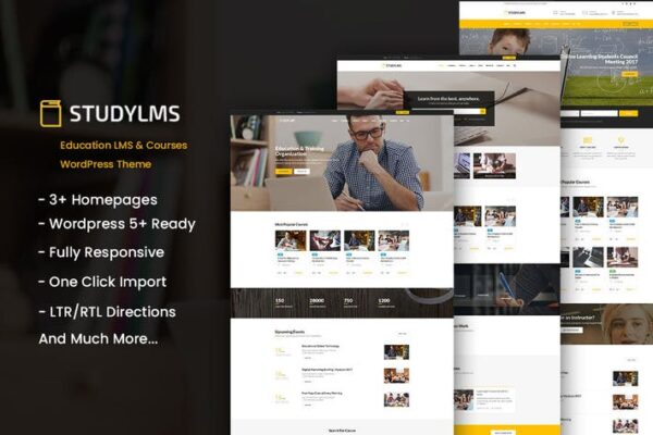 Studylms - Education LMS & Courses WordPress Theme 1