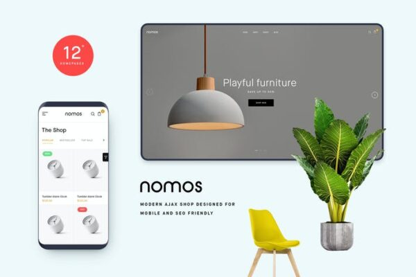Nomos - Modern AJAX Shop Designed For Mobile And S 1