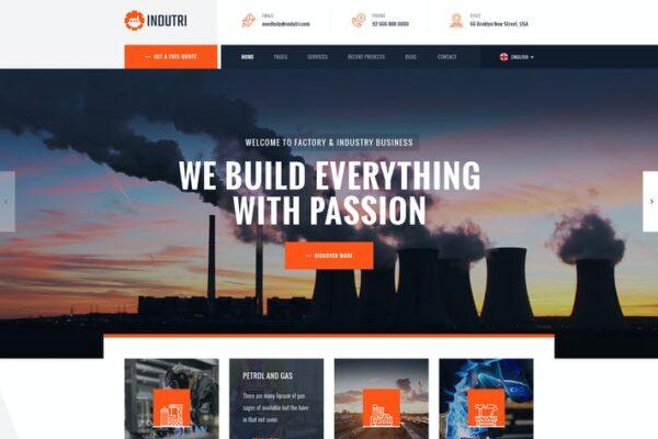 Indutri – Factory & Industrial WordPress Theme 1