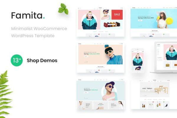 Famita - Minimalist WooCommerce WordPress Theme 1