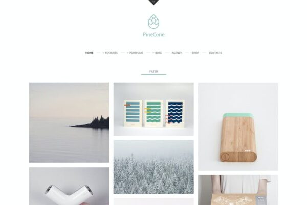 PineCone - Creative Portfolio and Blog for Agency 1