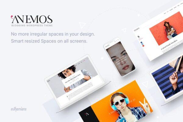 Anemos - A Multiuse Blogging WordPress theme 1