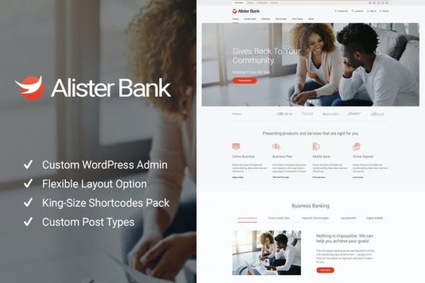 Alister Bank - Credits & Banking Finance WP Theme 1