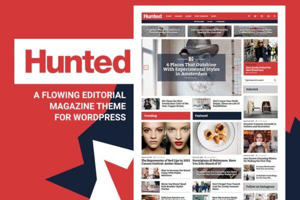 Hunted - Editorial Magazine Blog Theme 1