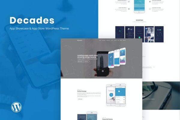 Decades - App Showcase & App Store WordPress Theme 1