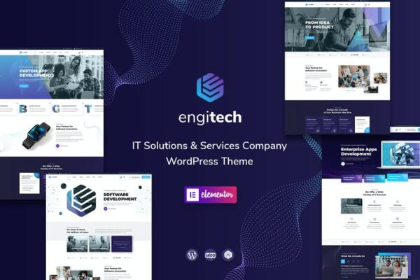Engitech - IT Solutions & Services WordPress Theme 1