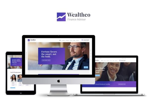 WealthCo - Business & Financial Consulting Theme 1