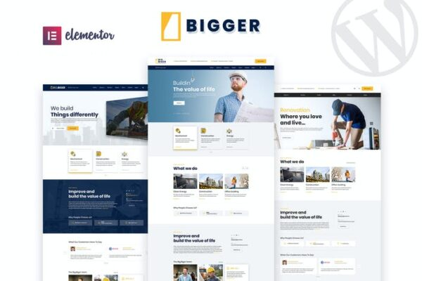 Bigger - Construction WordPress Theme 1