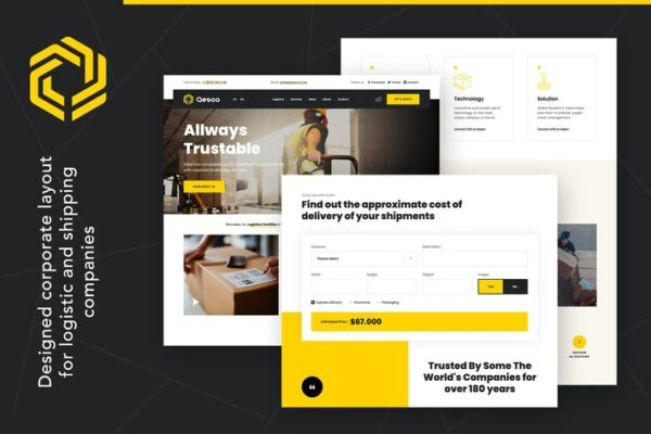 Qesco - Logistic Shipping Company WordPress Theme 1
