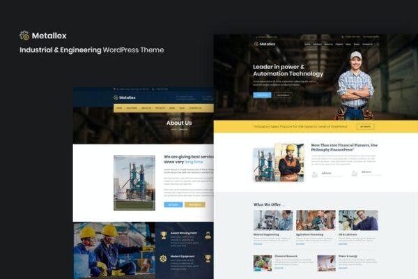 Metallex - Industrial And Engineering WordPress 1