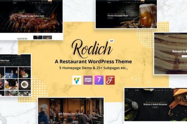 Rodich - A Restaurant WordPress Theme 1