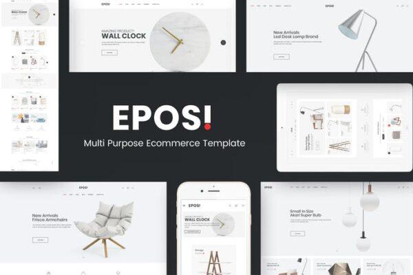Eposi - Minimal Theme for WooCommerce WordPress 1