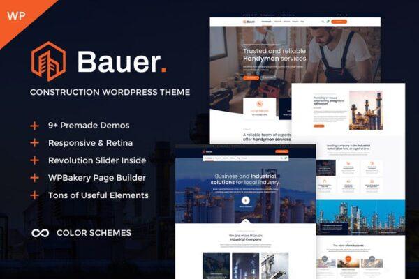 Bauer - Construction & Industrial WordPress Theme 1