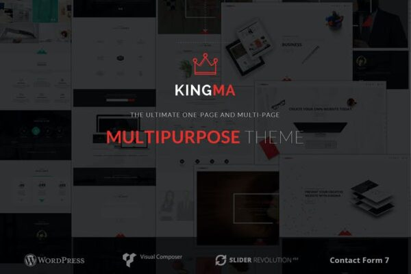 KingMa - Creative Business One & MultiPage Theme 1