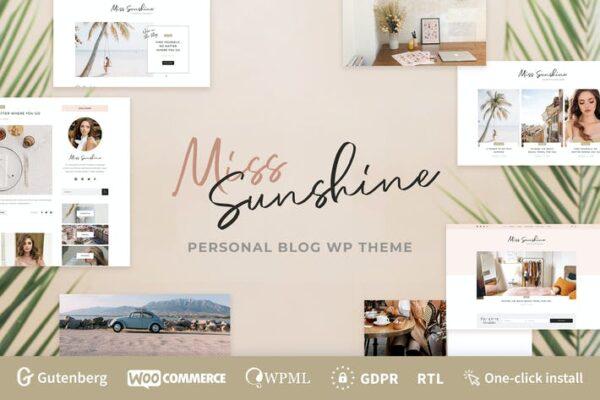 Miss Sunshine - Lifestyle & Beauty Women Blog 1