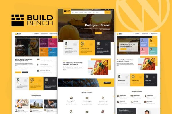 Construction Building WordPress Theme - Buildbench 1