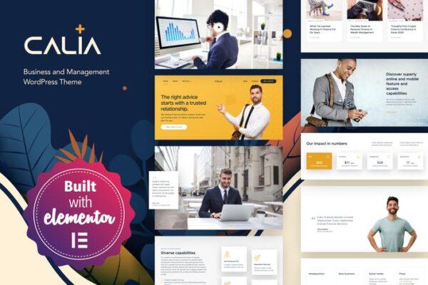 Calia - Business and Management WordPress Theme 1