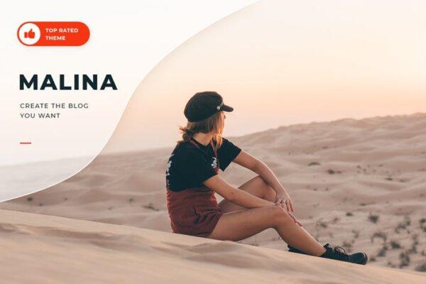 Malina - Personal WordPress Blog Theme 1