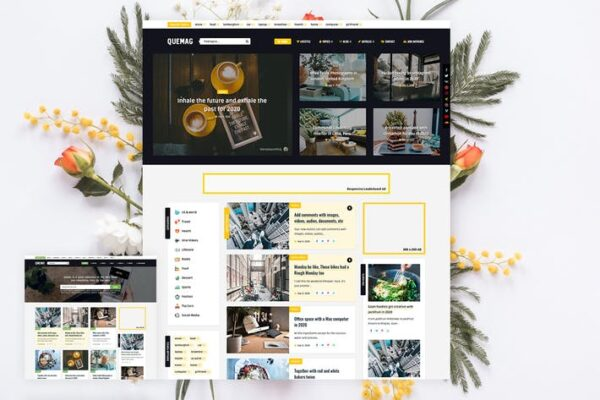Quemag – Magazine WordPress Theme for Bloggers 1