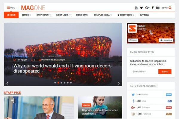 MagOne - Responsive Magazine & News WordPress The 1