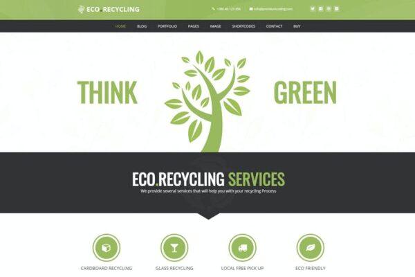 Eco Recycling - Ecology & Nature WordPress Theme 1