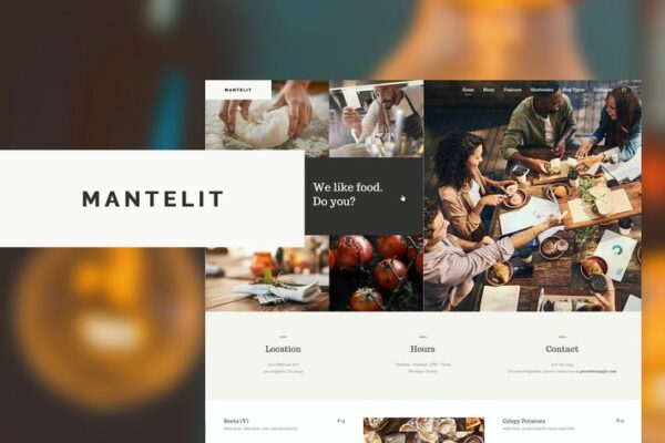 Mantelit - Restaurant WordPress Theme 1