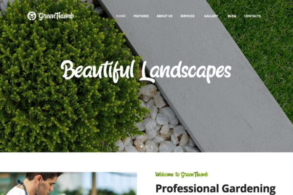Green Thumb - Gardening & Landscaping Services WP 1