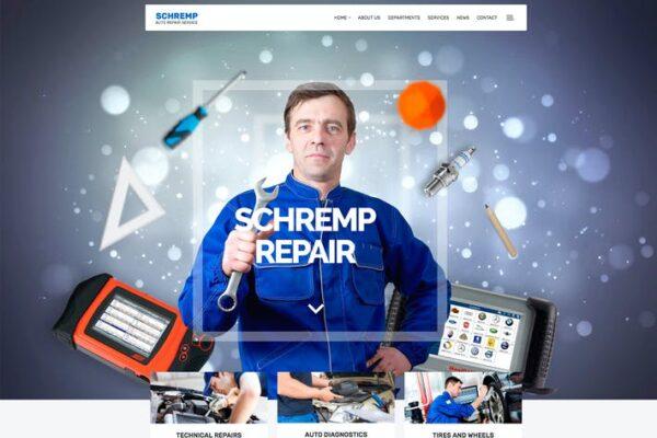 Schremp - Mechanical Wordpress 1