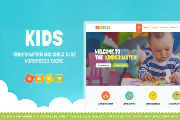 Kids - Day Care & Kindergarten WordPress Theme 1
