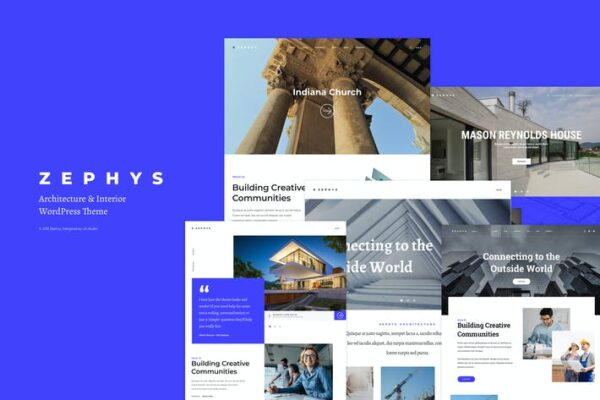 Zephys - Architecture & Interior WordPress Theme 1