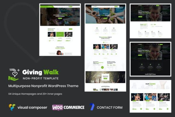 GivingWalk – Multipurpose Nonprofit WP Theme 1