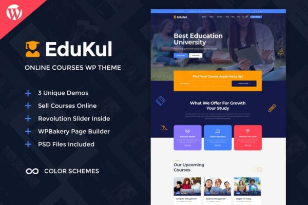 Edukul - Online Courses WordPress Theme 1