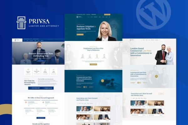 Privsa - Attorney and Lawyer WordPress Theme 1