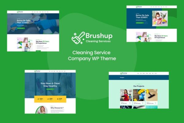 Brushup - Cleaning Service Company WordPress 1