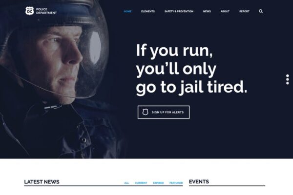 Police & Fire Department and Security WP Theme 1