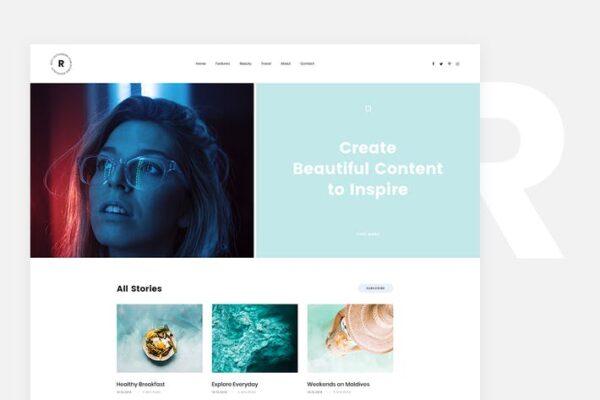 Rima - Personal Blog WordPress Theme 1