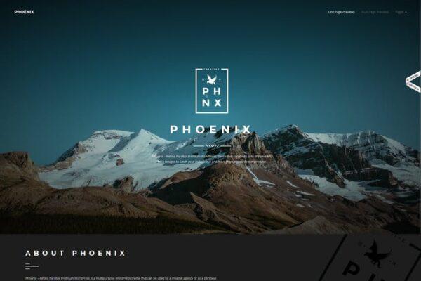 Phoenix - WordPress Minimal Multipurpose Portfolio 1