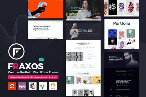 Fraxos - Creative Portfolio WordPress Theme Typ 1