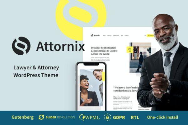 Attornix - Lawyer WordPress Theme 1