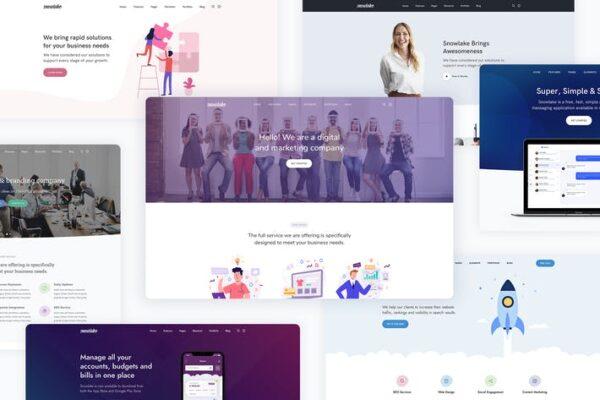 Snowlake - Creative Business & Startup WordPress 1
