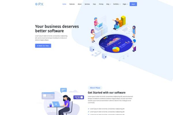 PXaas - App & Software Landing Page Theme 1