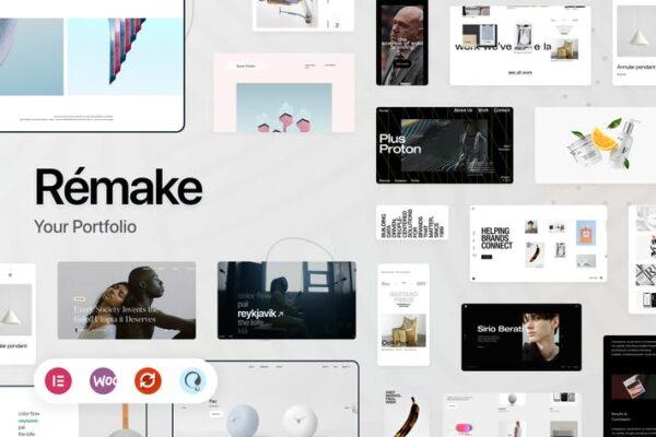 Remake - Minimalist Portfolio WordPress Theme 1