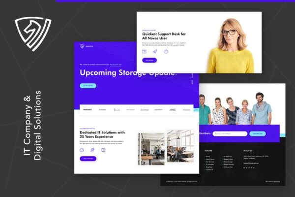 Novos - IT Company & Digital Solutions Wordpress 1