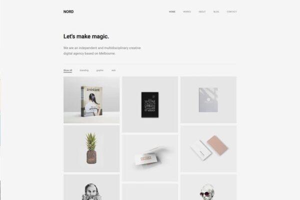Nord - Minimal Portfolio WordPress Theme 1