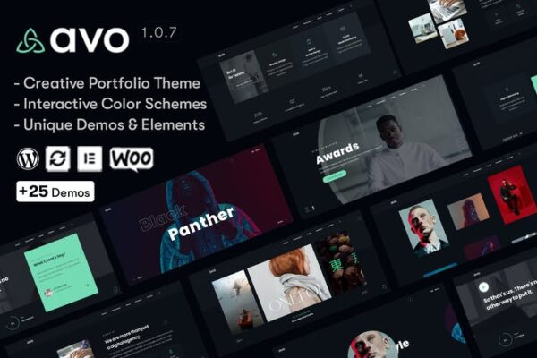 Avo - Creative Portfolio & Agency WordPress Theme 1