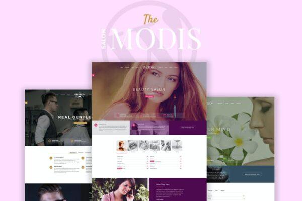 Modis - Salon & Barber WordPress Theme 1
