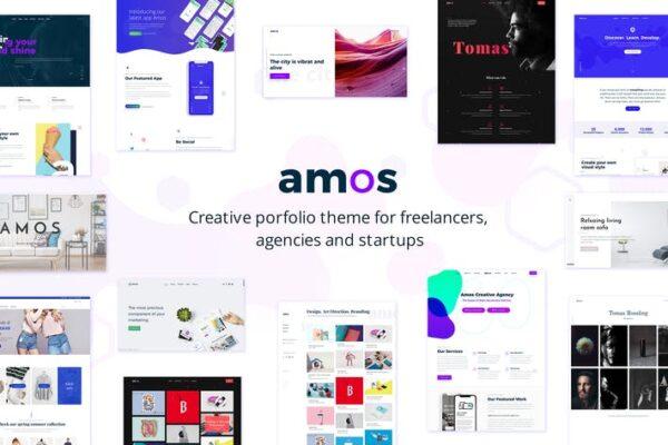 Amos - Creative WordPress theme 1