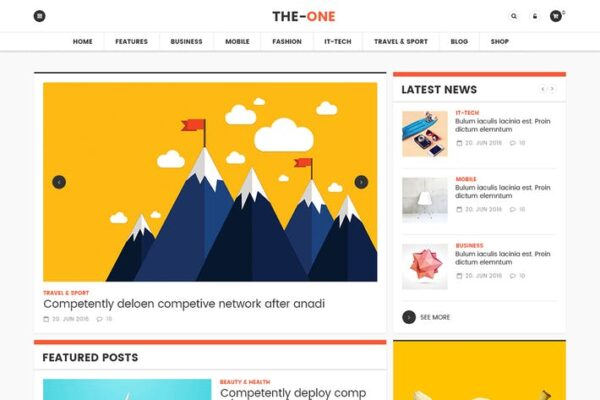 The One News Magazine Blog - Responsive WordPress 1
