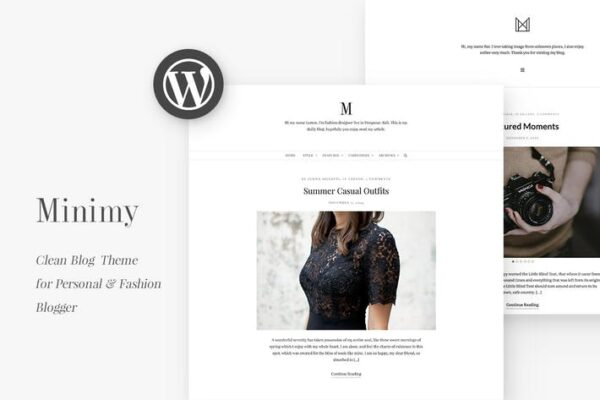 Minimy - Responsive Clean Personal & Fashion Blog 1